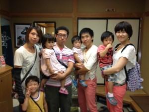 Guest families from Yamanashi and Kanagawa