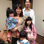 Guest family from Okayama pref