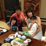 Guest family from Shiga