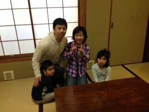 Guest family from Tokyo, Nishitokyo