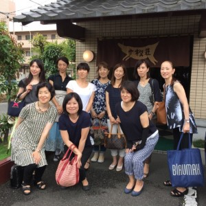 Guest ladies from Shizuoka city for school reunion