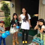 Guest mother and children from Osaka
